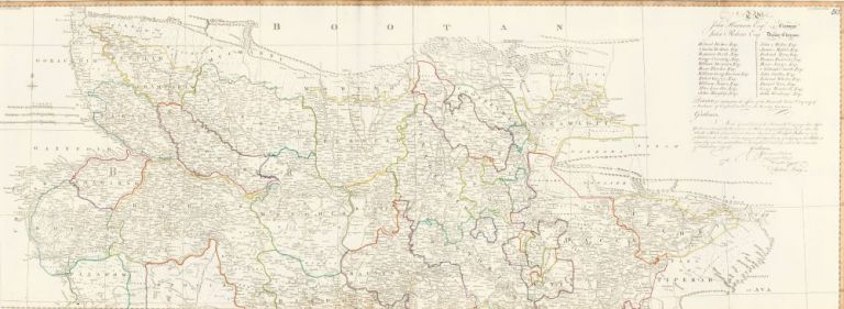 50 & 51. Provinces of Bengal and Behar. A New World Atlas. Thomas Kitchin.