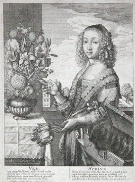 The Four Seasons: Spring. Wenceslas Hollar.