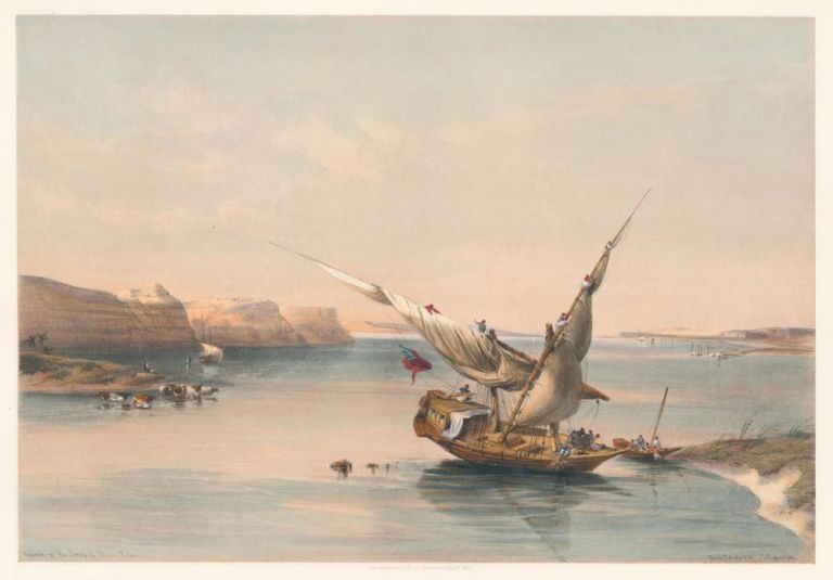Approach to the Fortress of Ibrim, Nubia. Egypt & Nubia. David Roberts.