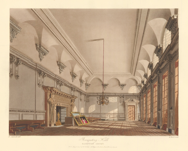 The Banqueting Hall, Hampton Court. The History of the Royal Residences. W. H. Pyne, Pyne.