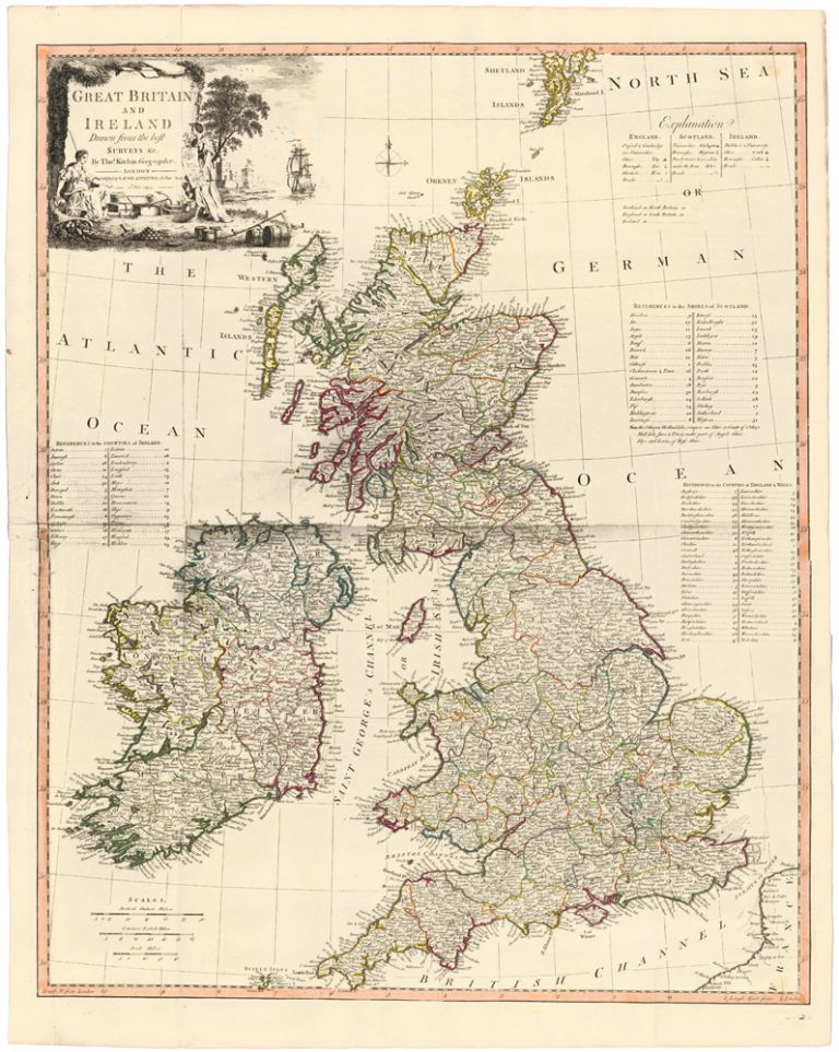 6. Great Britain and Ireland. A New Universal Atlas. Thomas Kitchin.