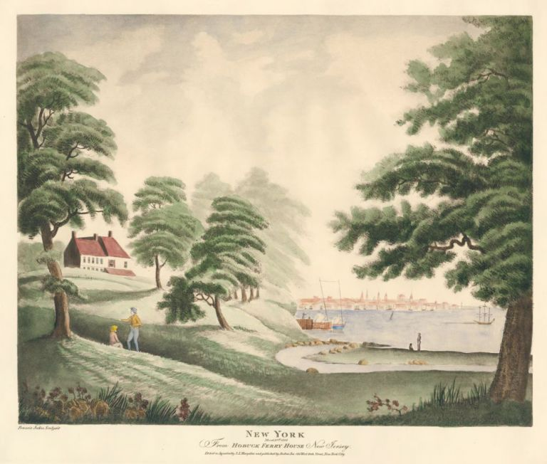 New York From hobuck Ferry House, New Jersey. after Francis Jukes.