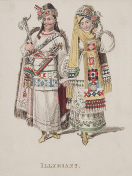 Marriage Costumes of Various Nations. R. ACKERMANN.