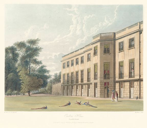 The South Front, Carlton House. The History of the Royal Residences. W. H. Pyne, Pyne.