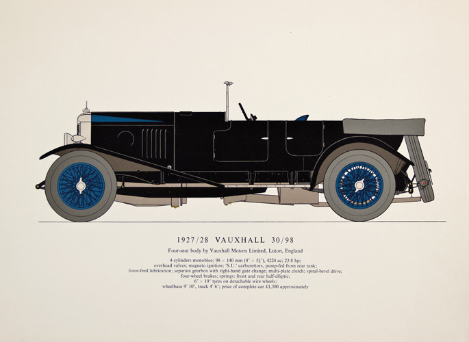 1927/28 Vauxhall 30/98. Early Motor-Cars: 1904-1915. Unknown.
