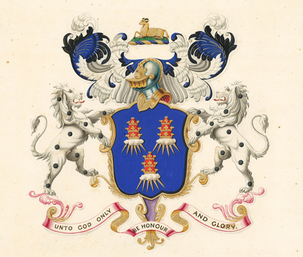 Arms of The Worshipful Company of Drapers. English School.