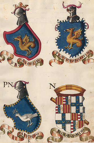 Pl. 109. Italian Family Coats of Arms. Italian School.