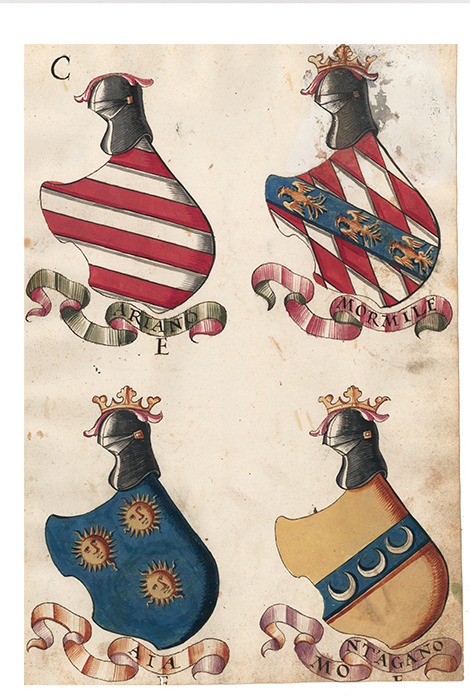 Pl. 147. Italian Family Coats of Arms. Italian School.