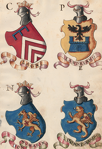 Pl. 84. Italian Family Coats of Arms. Italian School.