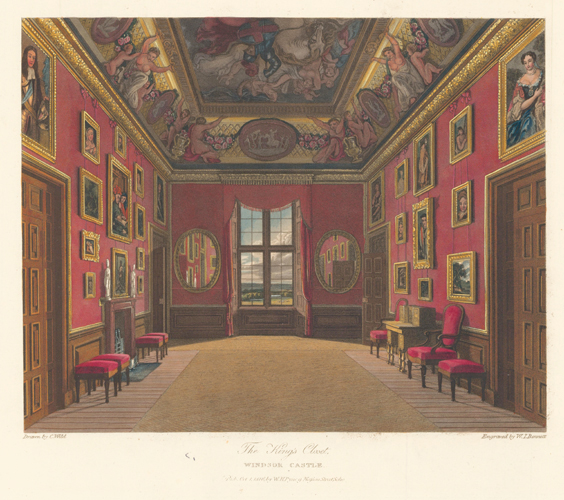 King's Closet, Windsor Castle. The History of the Royal Residences. W. H. Pyne, Pyne.