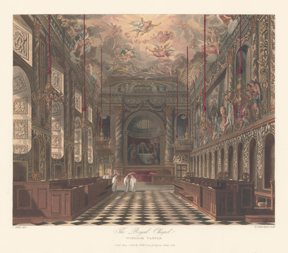Royal Chapel, Windsor Castle. The History of the Royal Residences. W. H. Pyne, Pyne.