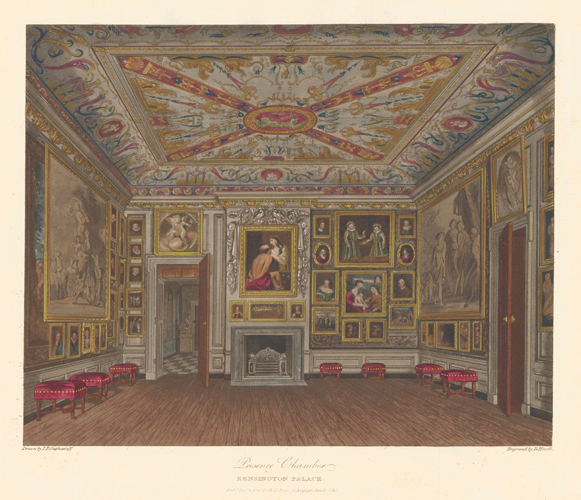 Presence Chamber, Kensington Palace. The History of the Royal Residences. W. H. Pyne, Pyne.
