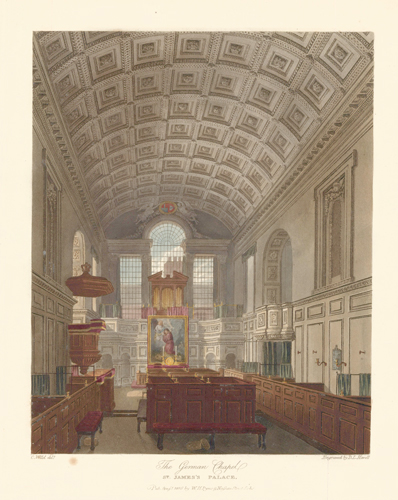 German Chamber, St. James's. The History of the Royal Residences. W. H. Pyne, Pyne.