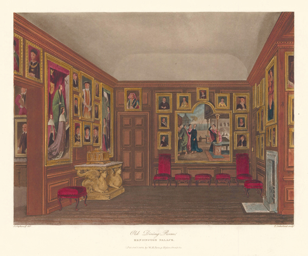 Old Dining Room, Kensington Palace. The History of the Royal Residences. W. H. Pyne, Pyne.