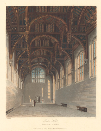 Gothic Hall, Hampton Court Palace. The History of the Royal Residences. W. H. Pyne, Pyne.