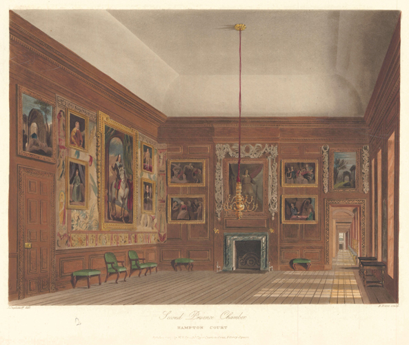 Second Presence Chamber, Hampton Court Palace. The History of the Royal Residences. W. H. Pyne, Pyne.