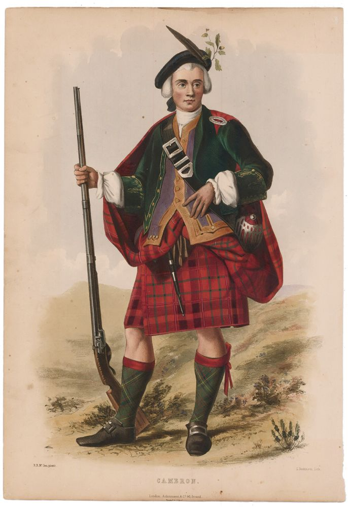 Cameron. The Clans of the Scottish Highlands. R. McIan.