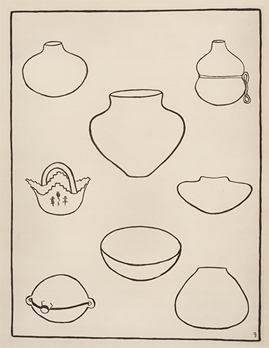 Characteristic Forms of Indian Pottery. American Indian Designs. Inez B. Westlake.