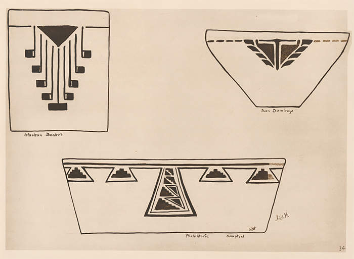 Designs adapted from use on china. American Indian Designs. Inez B. Westlake.