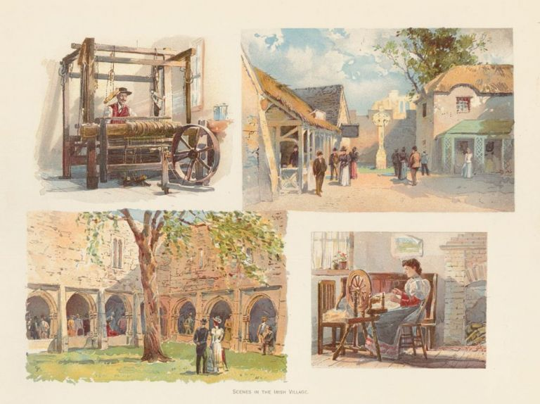 Scenes in the Irish Village. The World's Fair in Water Colors. Charles S. Graham.