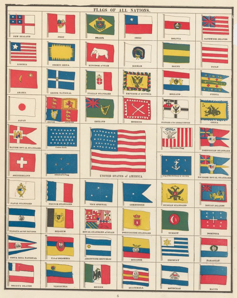 Flags of All Nations. Cram's Unrivaled Atlas of the World. George Franklin Cram.
