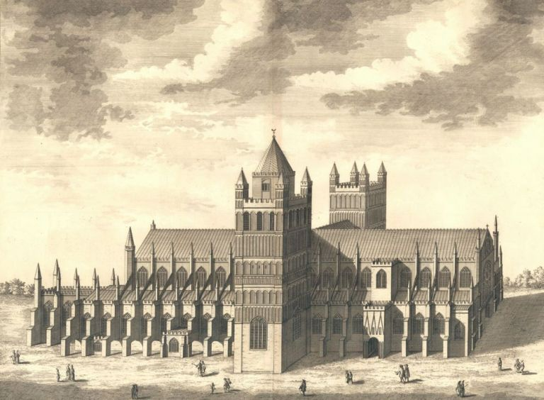 The Cathedral Church of Exeter. Britannia Illustrata. Leonard Knyff.