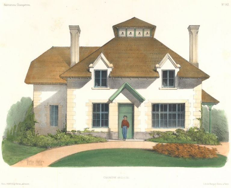 Chaumiere Anglaise. Habitations Champetres. Victor Petit.