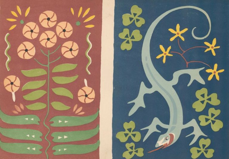 No. 15, Flowers with Komodo Dragon. Nakagawa Zhuanshu. Anonymous.