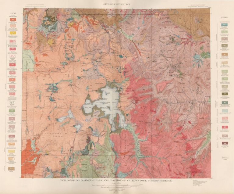 Yellowstone National Park. Atlas to Accompany Monograph XXXII on the Geology of the Yellowstone National Park. Arnold Hague.