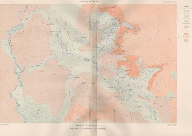 Norris Geyser Basin. Atlas to Accompany Monograph XXXII on the Geology of the Yellowstone National Park. Arnold Hague.