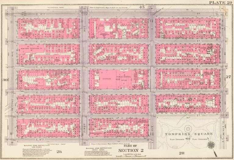 Section 2: Plate 29. Land Book of the Borough of Manhattan, City of New York. Bromley, GW Bromley, Co.