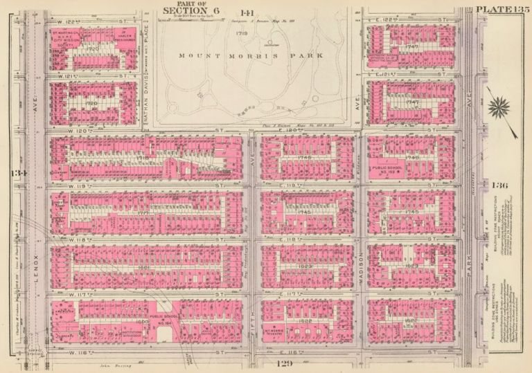 Section 7: Plate 135. Land Book of the Borough of Manhattan, City of New York. Bromley, GW Bromley, Co.