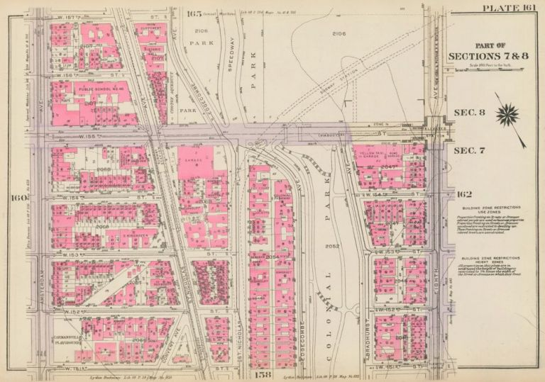 Section 7: Plate 161. Land Book of the Borough of Manhattan, City of New York. Bromley, GW Bromley, Co.