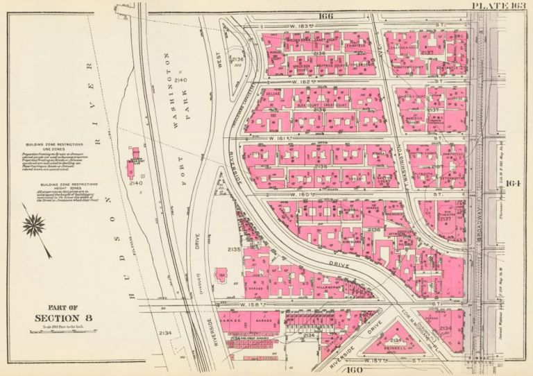 Section 8: Plate 163. Land Book of the Borough of Manhattan, City of New York. Bromley, GW Bromley, Co.