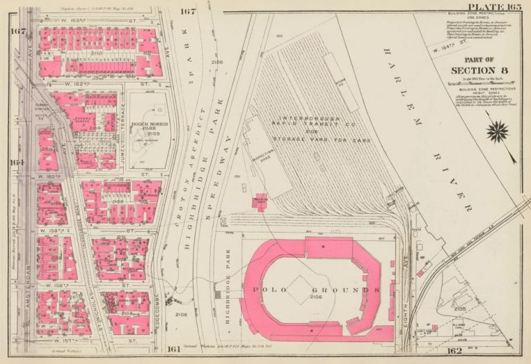 Section 8: Plate 165. Land Book of the Borough of Manhattan, City of New York. Bromley, GW Bromley, Co.