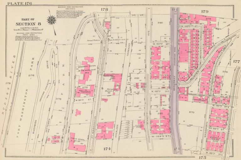 Section 8: Plate 176. Land Book of the Borough of Manhattan, City of New York. Bromley, GW Bromley, Co.