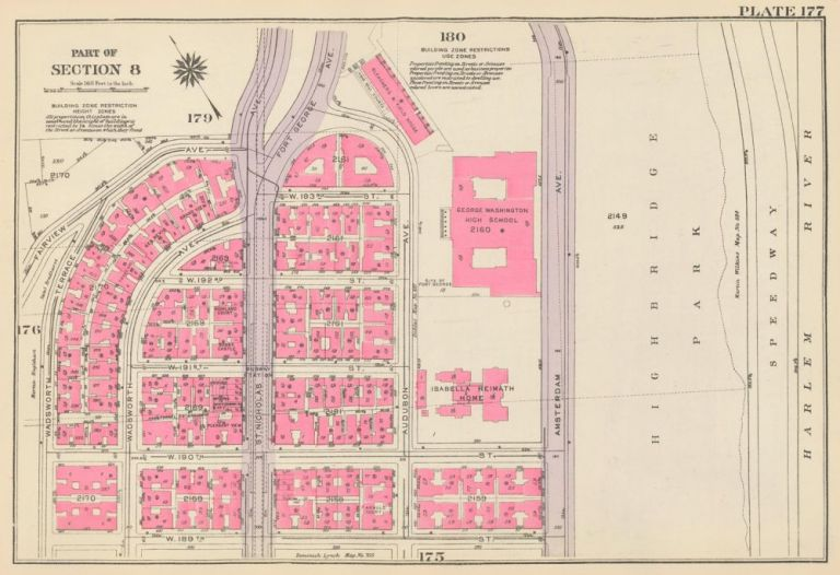 Section 8: Plate 177. Land Book of the Borough of Manhattan, City of New York. Bromley, GW Bromley, Co.