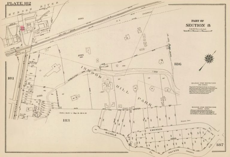 Section 8: Plate 182. Land Book of the Borough of Manhattan, City of New York. Bromley, GW Bromley, Co.