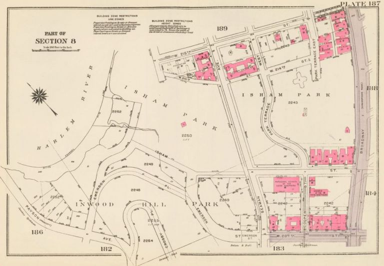 Section 8: Plate 187. Land Book of the Borough of Manhattan, City of New York. Bromley, GW Bromley, Co.