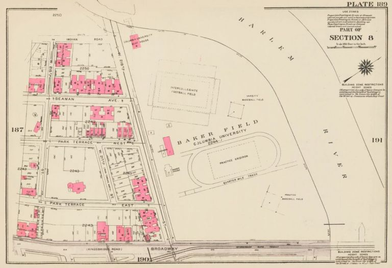 Section 8: Plate 189. Land Book of the Borough of Manhattan, City of New York. Bromley, GW Bromley, Co.