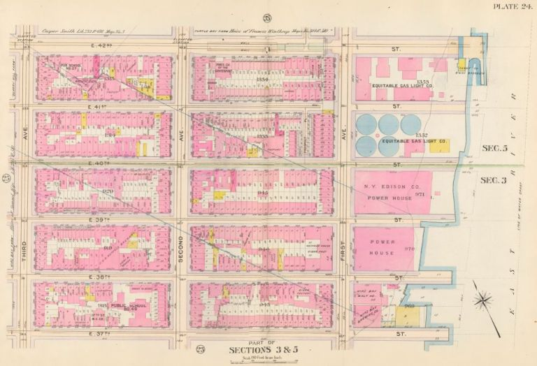 Sections 2 & 5: Plate 24. Atlas of the City of New York. Bromley, GW Bromley, Co.