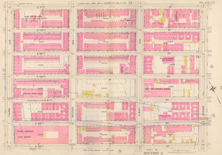 Section 5: Plate 22. Atlas of the City of New York. Bromley, GW Bromley, Co.