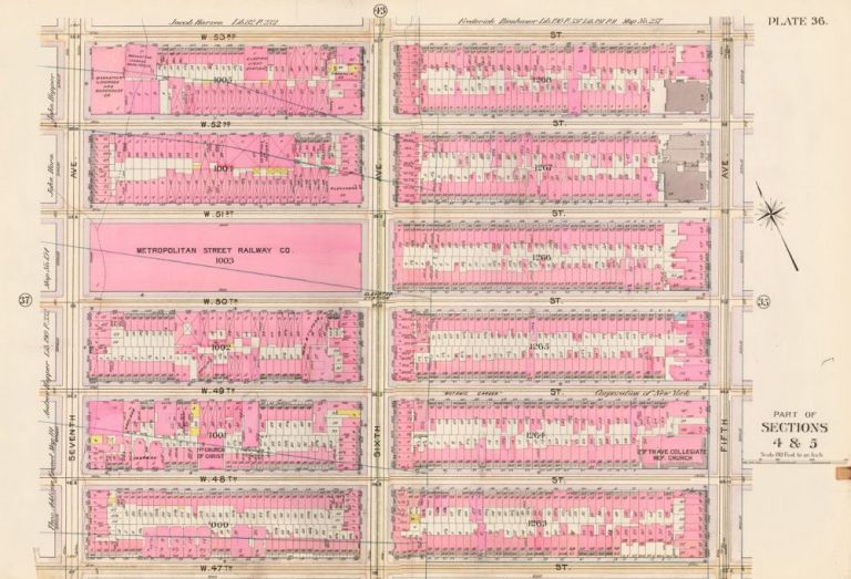 Sections 4 & 5: Plate 36. Atlas of the City of New York. Bromley, GW Bromley, Co.
