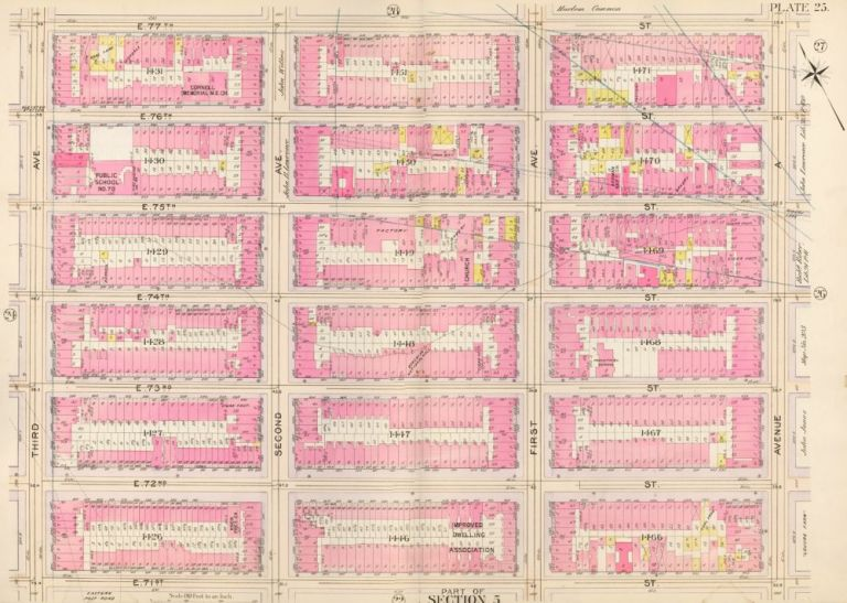Section 5: Plate 25. Atlas of the City of New York. Bromley, GW Bromley, Co.