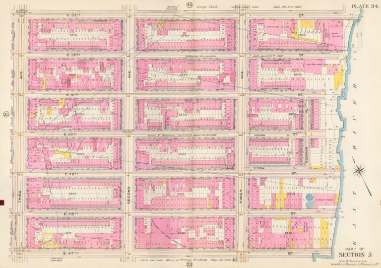 Section 5: Plate 34. Atlas of the City of New York. Bromley, GW Bromley, Co.
