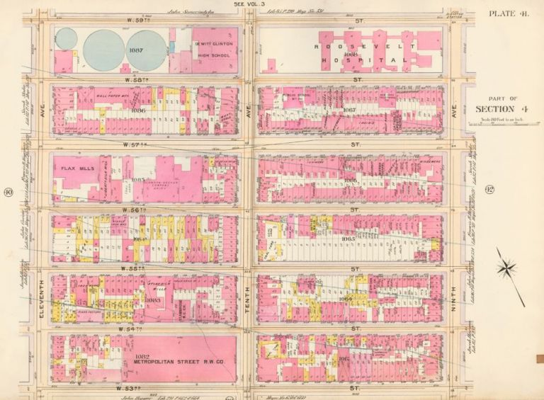 Section 4: Plate 41. Atlas of the City of New York. Bromley, GW Bromley, Co.