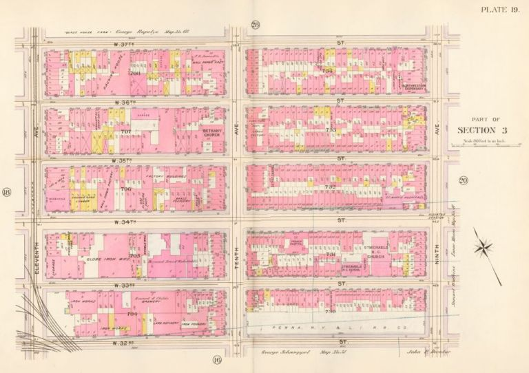 Section 3: Plate 19. Atlas of the City of New York. Bromley, GW Bromley, Co.