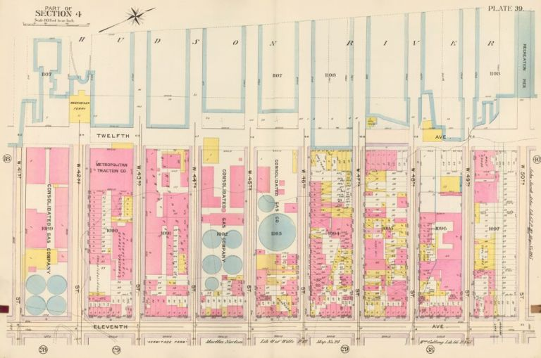 Section 4: Plate 39. Atlas of the City of New York. Bromley, GW Bromley, Co.