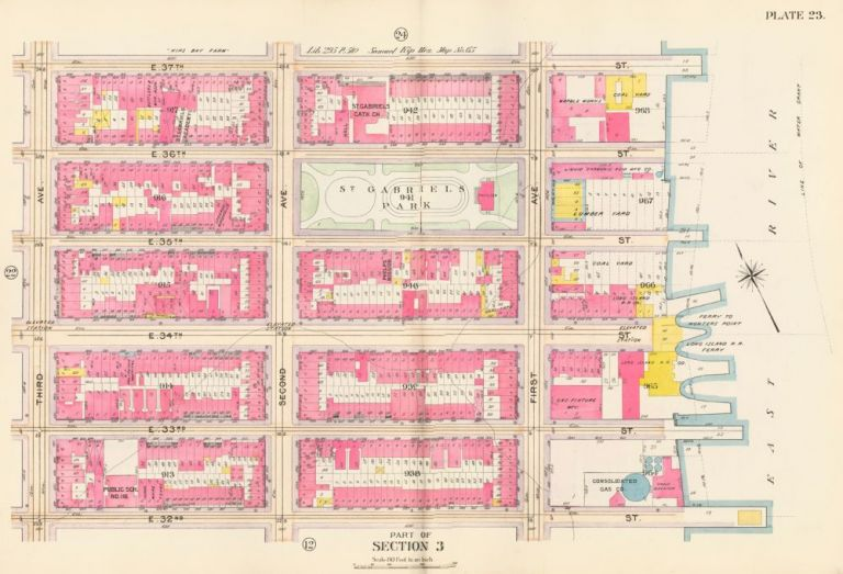 Section 3: Plate 24. Atlas of the City of New York. Bromley, GW Bromley, Co.