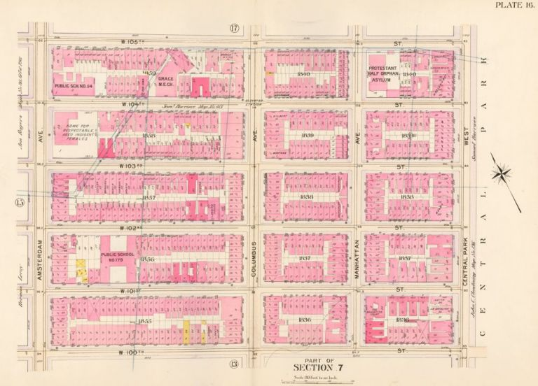 Section 7: Plate 16. Atlas of the City of New York. Bromley, GW Bromley, Co.
